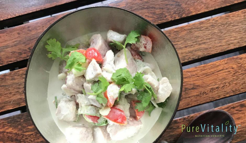 Coconut Marinated Fish Salad
